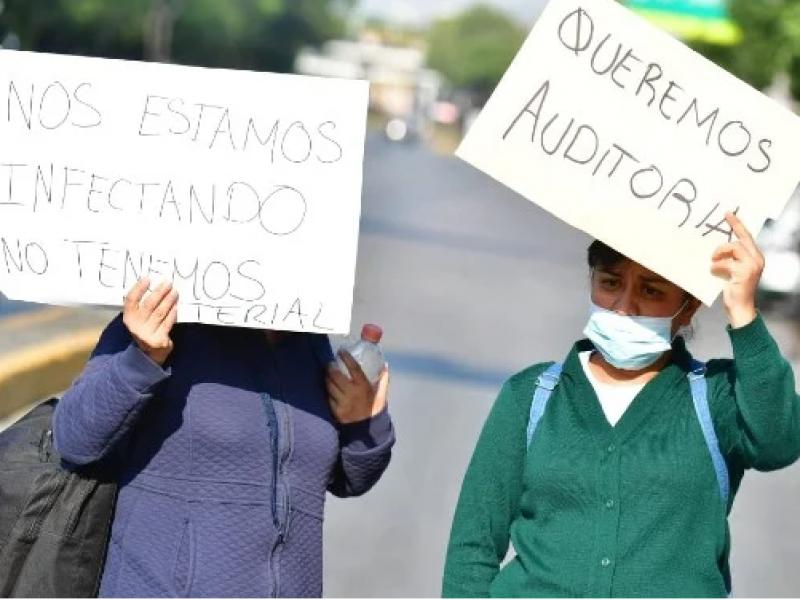 Covid-19: Médicos del Hospital La Raza denuncian falta de protección