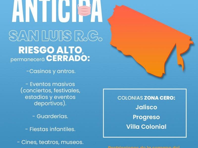 Covid- 19: San Luis en riesgo alto