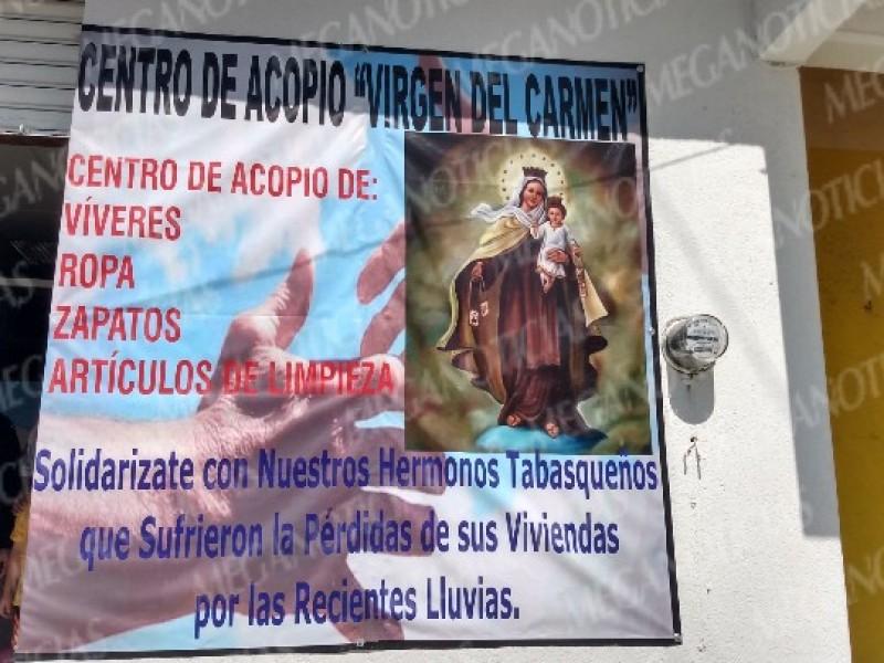 Crean centro de acopio para damnificados de Tabasco