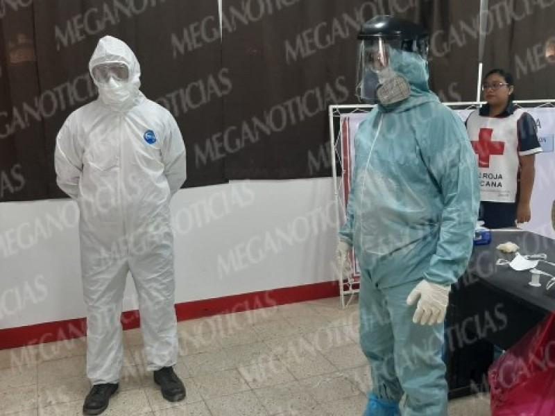 CRM capacita al personal para atender casos de Covid-19: Tehuantepec