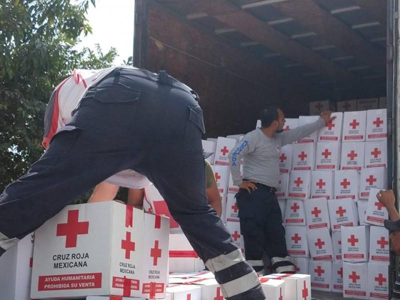 Cruz Roja entrega kits de cocina en Nayarit