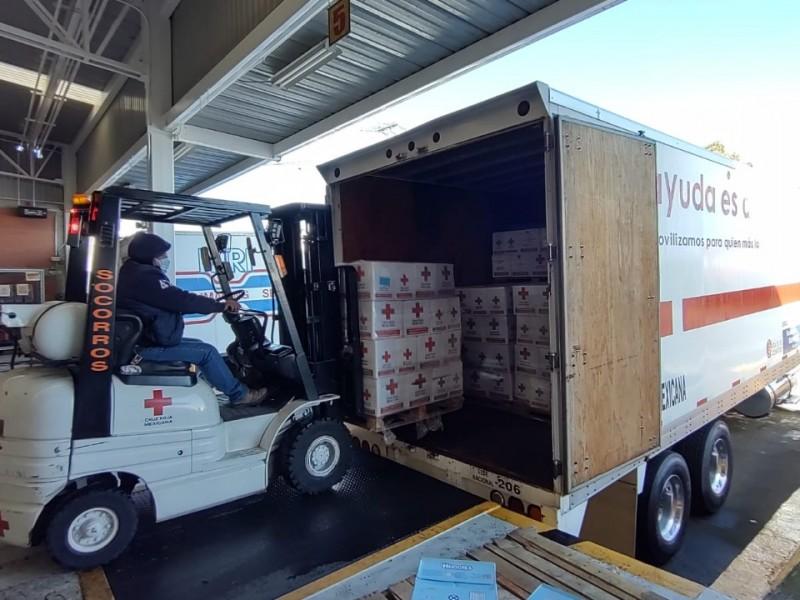 Cruz Roja envía ayuda humanitaria a Poza Rica y Tecolutla