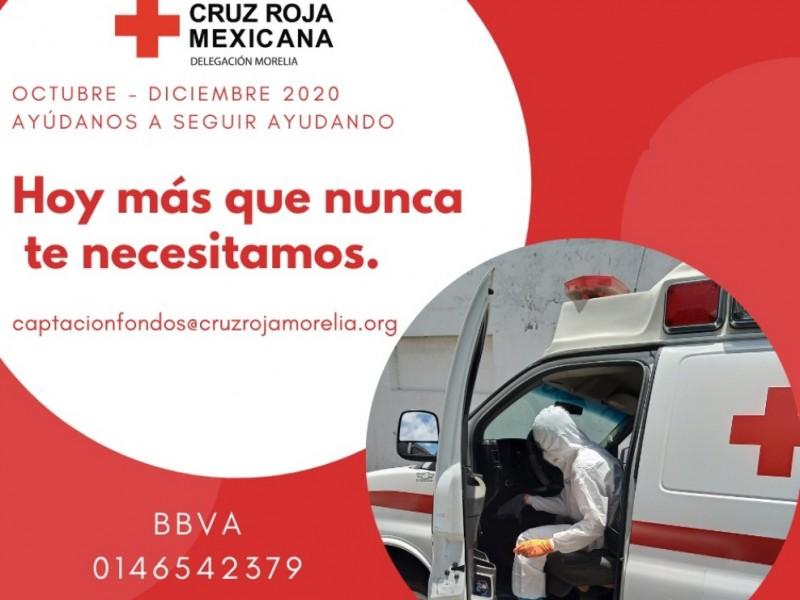 Cruz Roja Morelia lanza colecta para recaudar fondos