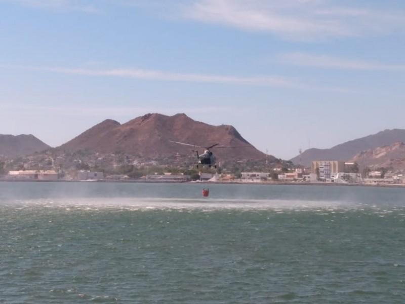 Cuarta Región Naval preparados para sofocar incendios con helicópteros