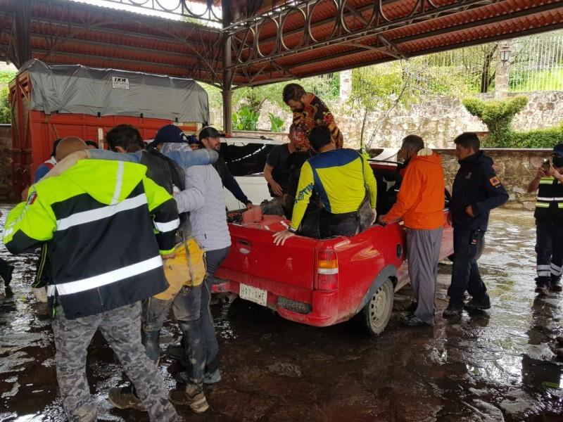 Cuatro personas entraron al cañón del Puente de Piedra