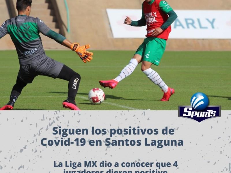 Cuatro positivos mas de Covid-19 en Santos Laguna