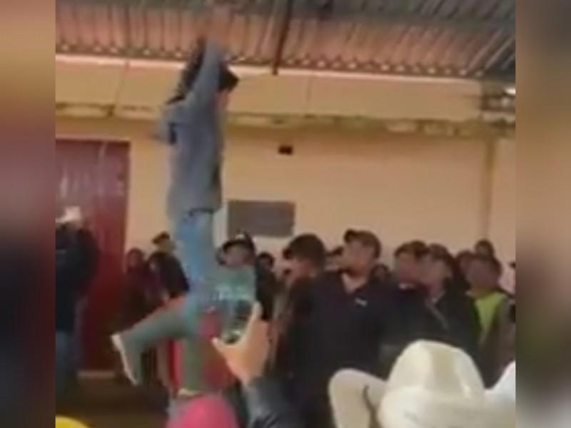 Cuelgan a sujetos en San Juan Chamula por robo