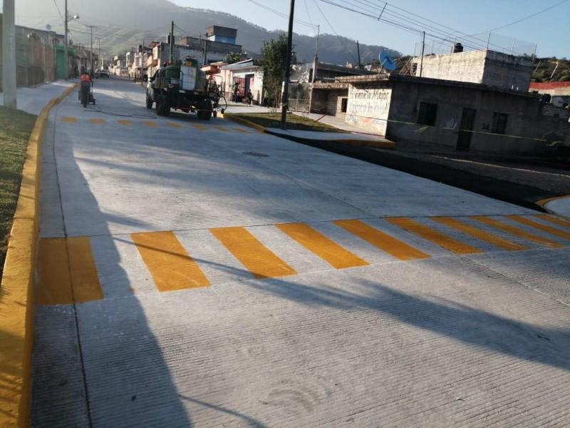 Culminan obra de  calle Cerro de San-Juan