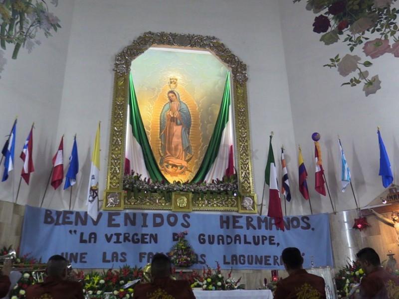 Culminan peregrinaciónes con mañanitas a la Virgen