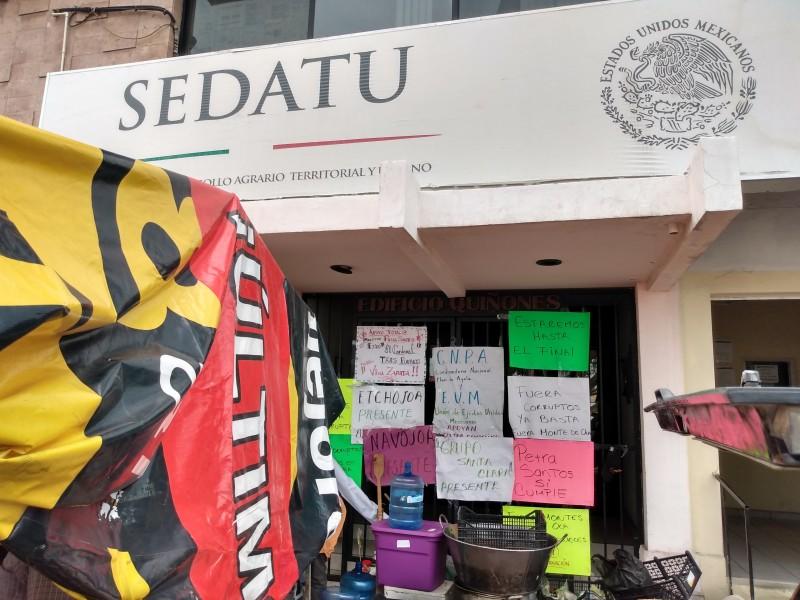 Cumple 12 días toma de Sedatu en Hermosillo