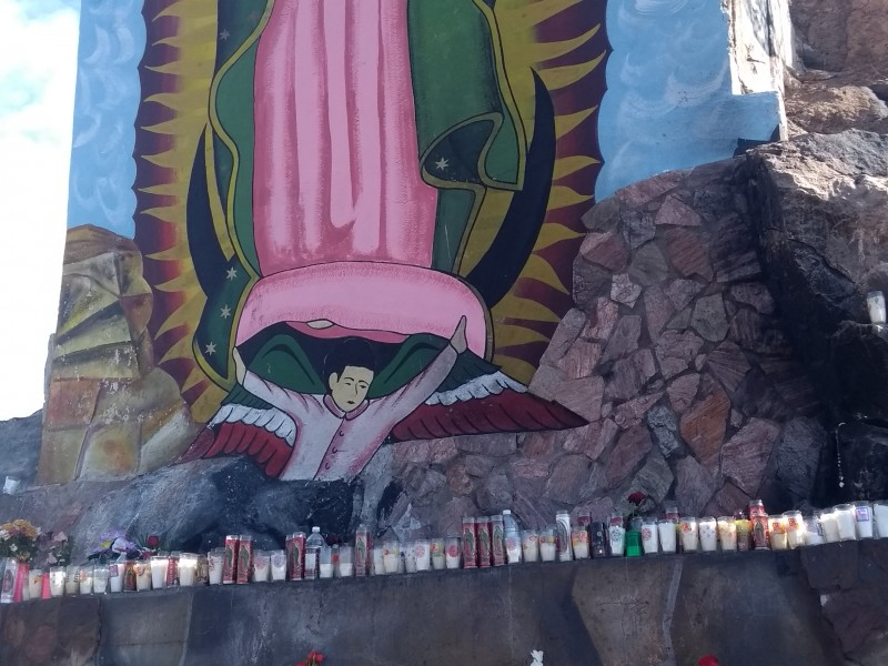 Cumplen manda a la virgen de Guadalupe