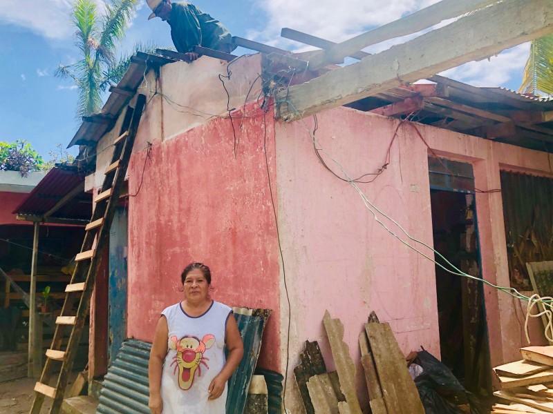 Damnificados piden comedor comunitario en Las Pasas