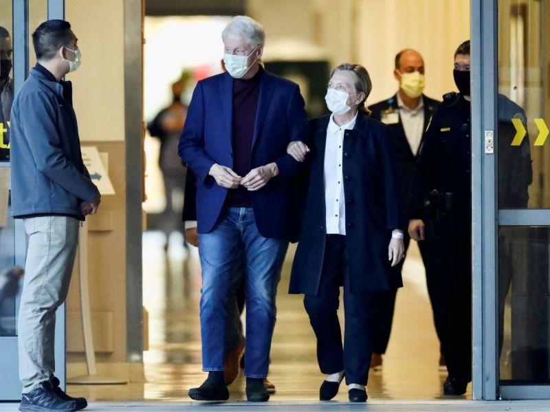 Dan de alta a Clinton tras cinco noches hospitalizado