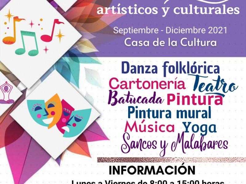 Dan inicio a talleres artísticos en Casa de la Cultura