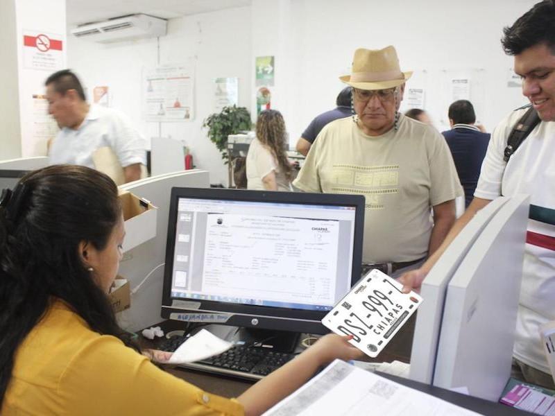 Dan prórroga para realización de canje de placas en Chiapas