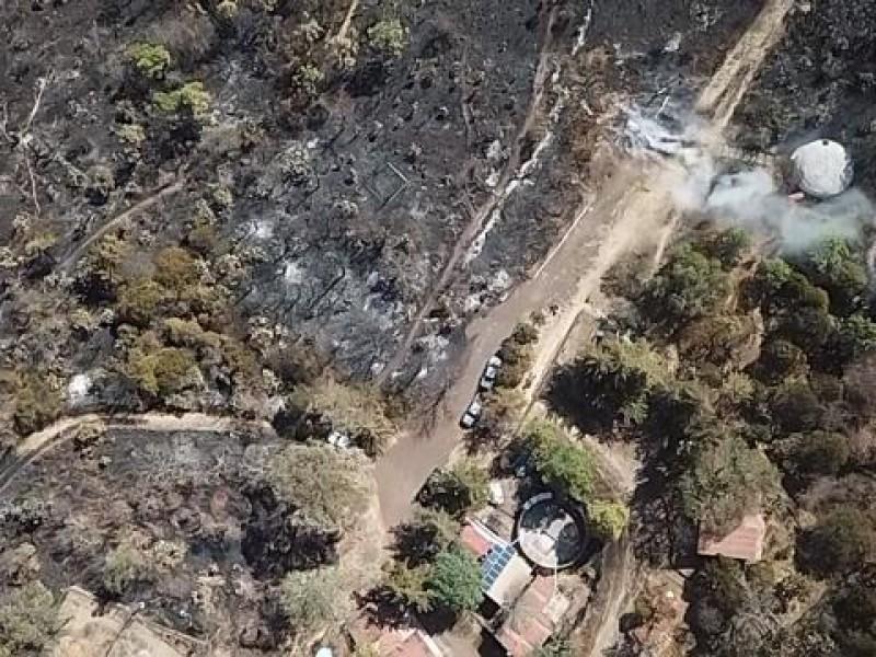 Dañó incendio 55 hectáreas en Cerro del Punhuato