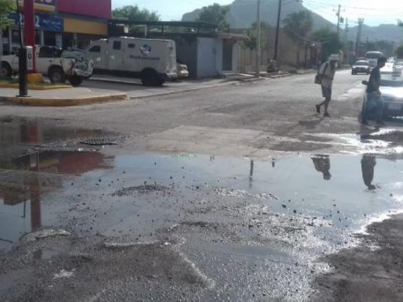 Daños de 1 mdp por rotura calles por la CEA
