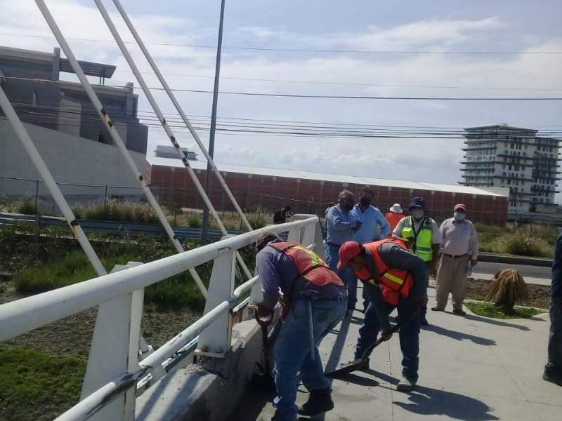 Daños en puente de Angelópolis no fueron por sismo