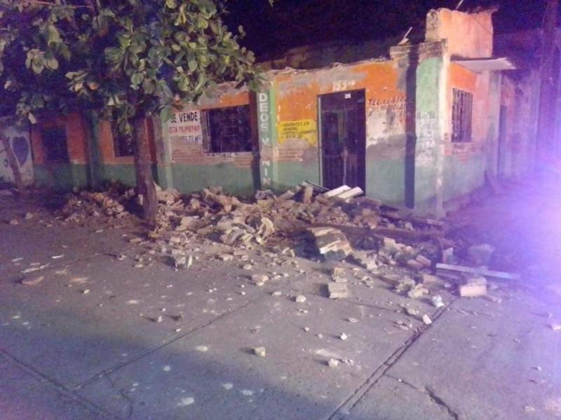 Daños en Tonalá por sismo de intensidad 6