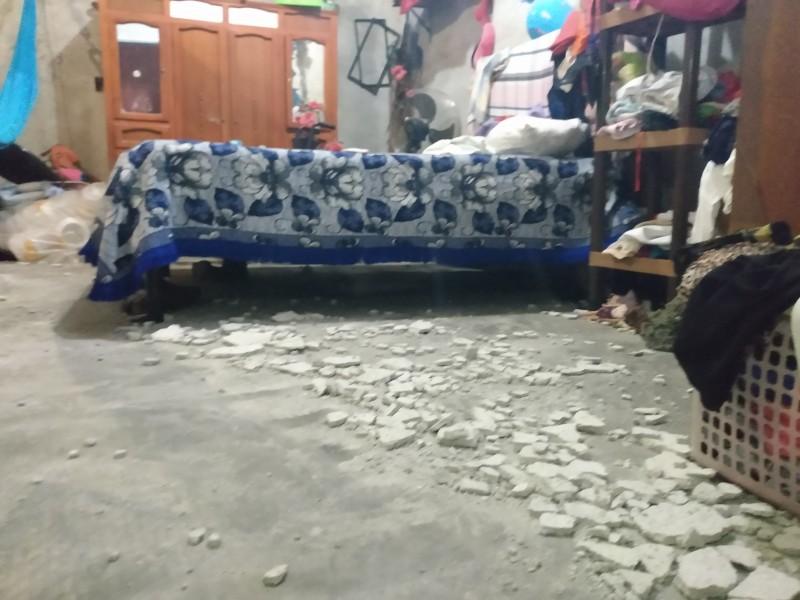 Daños menores a viviendas deja sismo