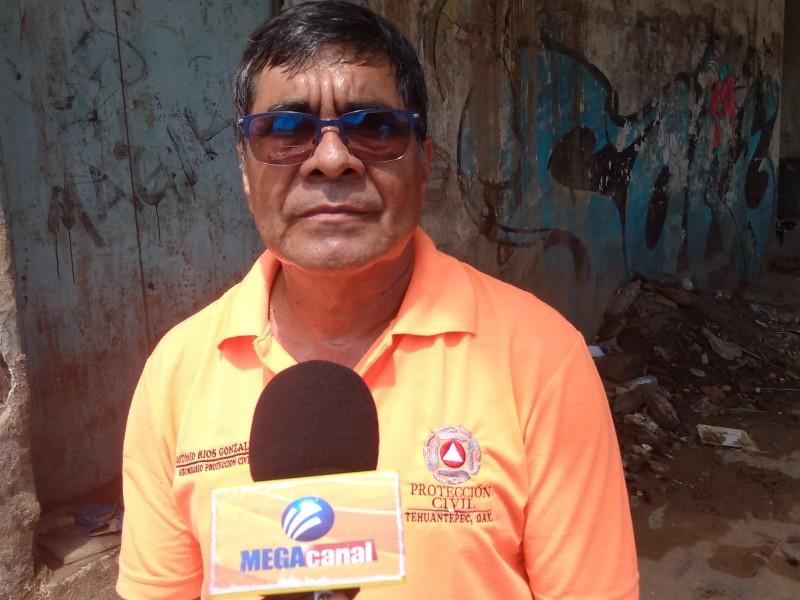 Daños menores por lluvias en Tehuantepec