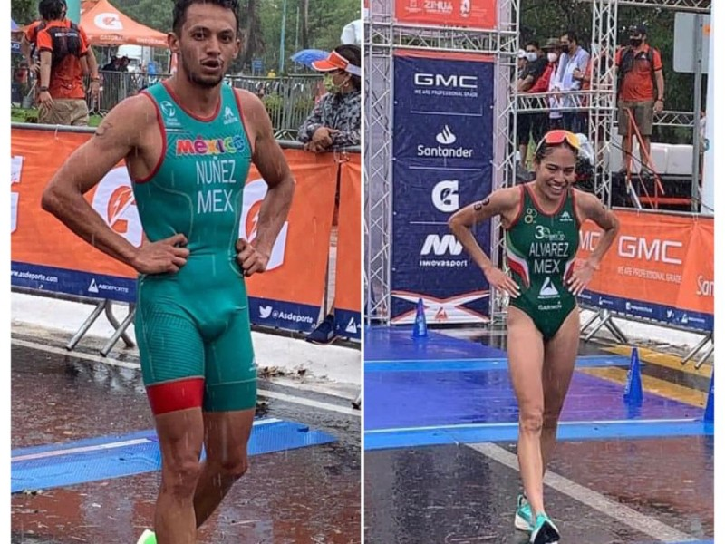 David Núñez y Anahí Álvarez ganadores Elite del Triatlón Ixtapa-Zihuatanejo