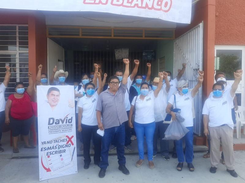 David Rosado inicia campaña rumbo a la presidencia de Tehuantepec