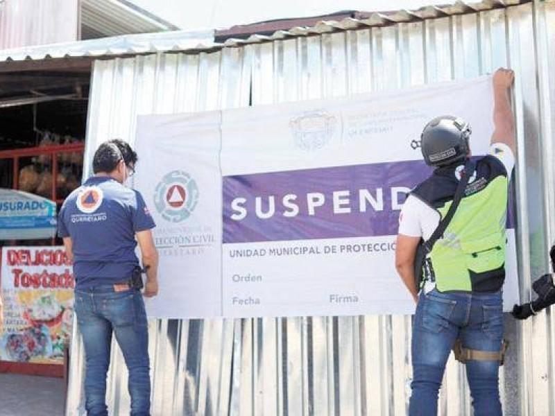 De 45 suspensiones de negocios, 3 pertenecen a CANACO
