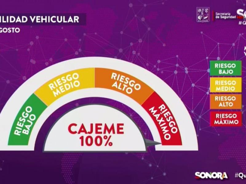 De nuevo Cajeme al 100% en movilidad vehicular