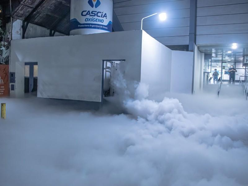 De película, sorprende extraña nube blanca tras fuga de oxígeno