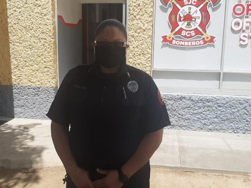 De profesora de educación física a bombero