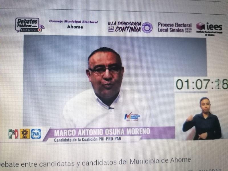 Debaten candidatas y candidatos a la alcaldía de Ahome