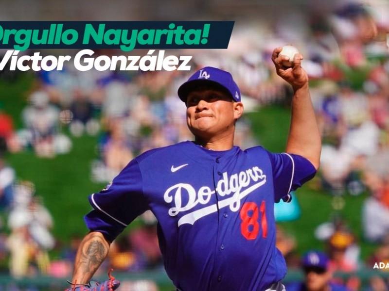 Debuta nayarita Víctor González con los Dodgers de Los Ángeles