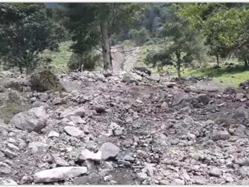 Decenas de caminos en Chiconquiaco quedaron destrozados por huracán Grace