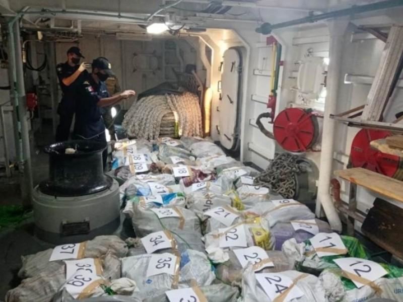Decomisan 39 costales con cocaína en costas de Chiapas
