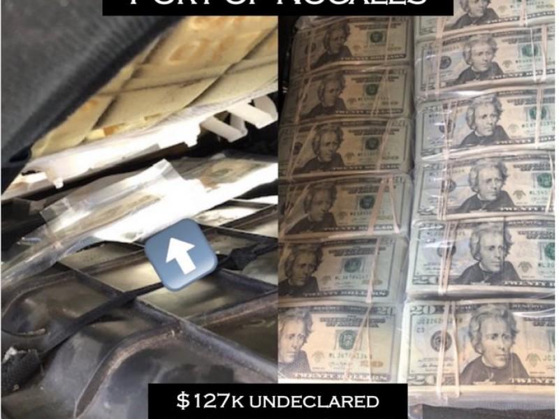 Decomisan agentes de CBP 127 mil dólares en puerto fronterizo