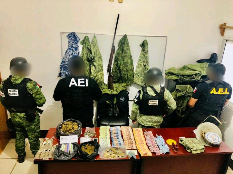 Decomisan drogas y dinero en dos municipios del Istmo