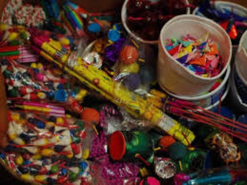 Decomisan más de 250 kilogramos de pirotecnia en Veracruz