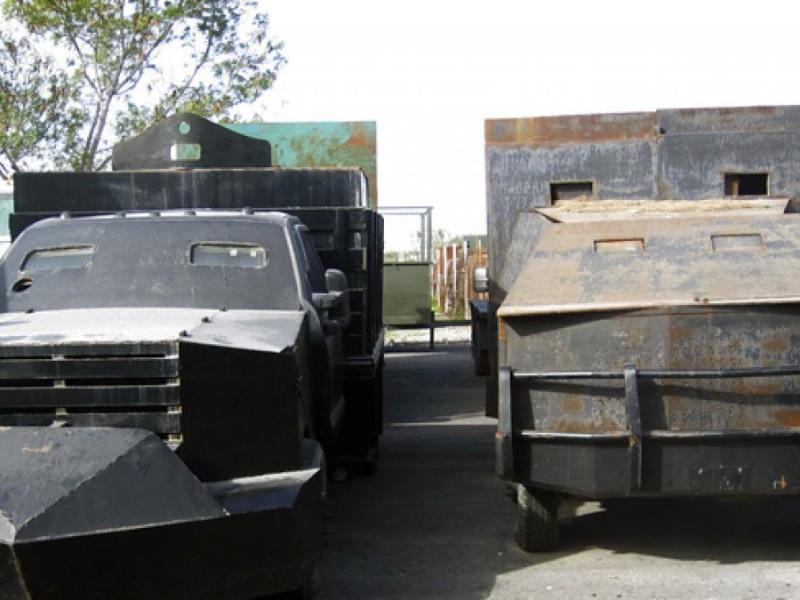 Decomisan vehículos blindados en Tamaulipas