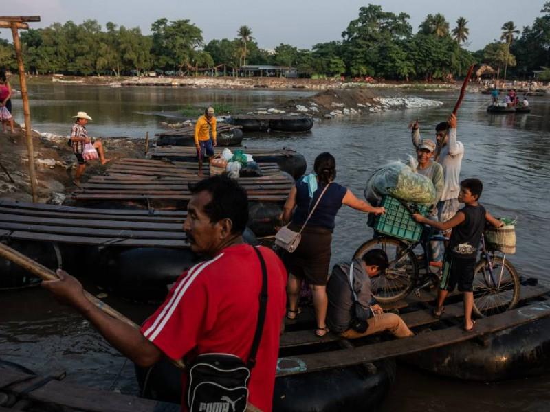 Decrece arribo de migrantes en margen fronterizo