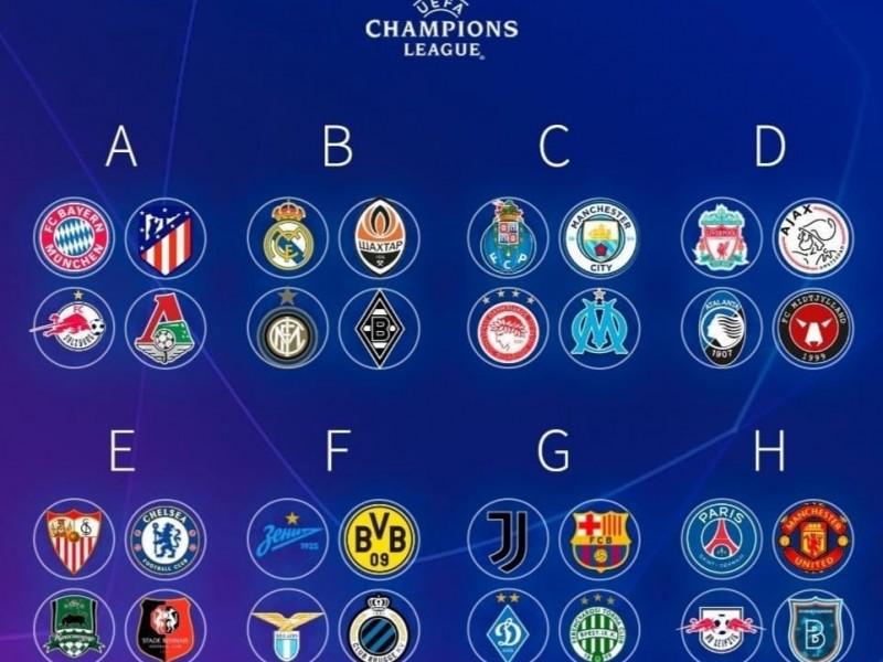Definidos los grupos de la UEFA Champions League