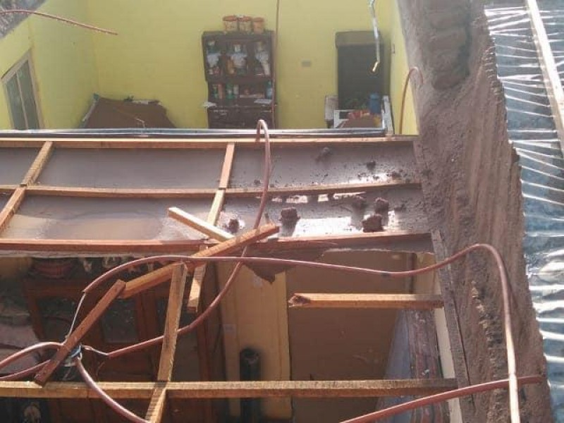 Deja tromba daños  a viviendas de Huásabas