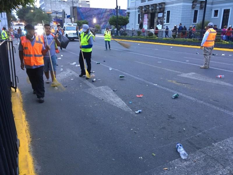 Dejan centro de Guadalajara limpio tras Romería