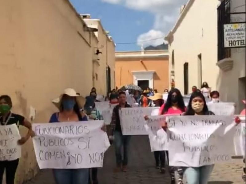¡Déjenlos pasar! Se manifiestan por bloqueo al turismo en Álamos