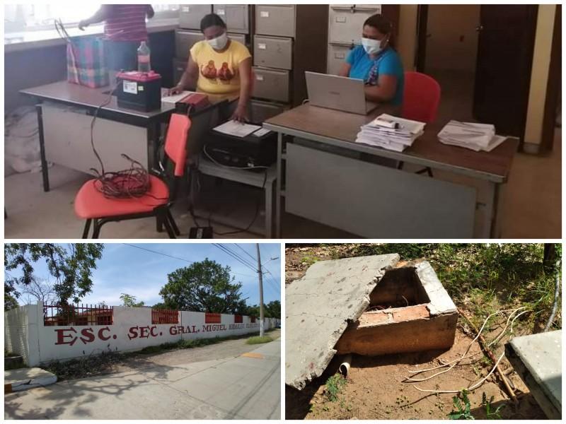 Delincuencia deja en apuros a escuelas secundarias en Tehuantepec
