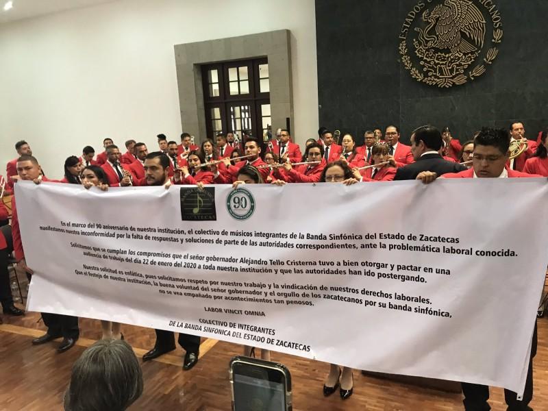 Denuncia Banda Sinfónica del Estado incumplimientos laborales