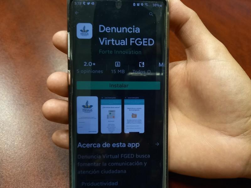 Denuncia virtual FGDE