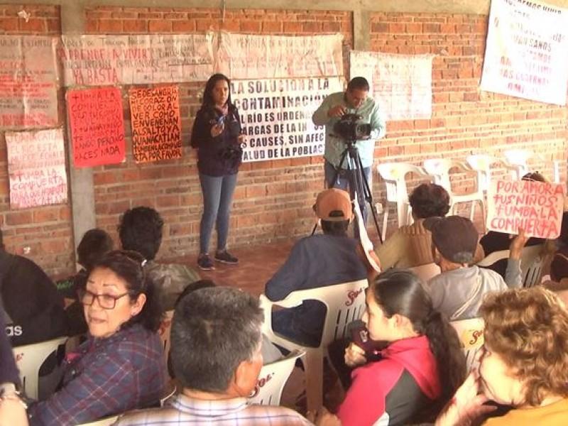 Denuncian a CEDHJ enfermedades por contaminación del Río Santiago