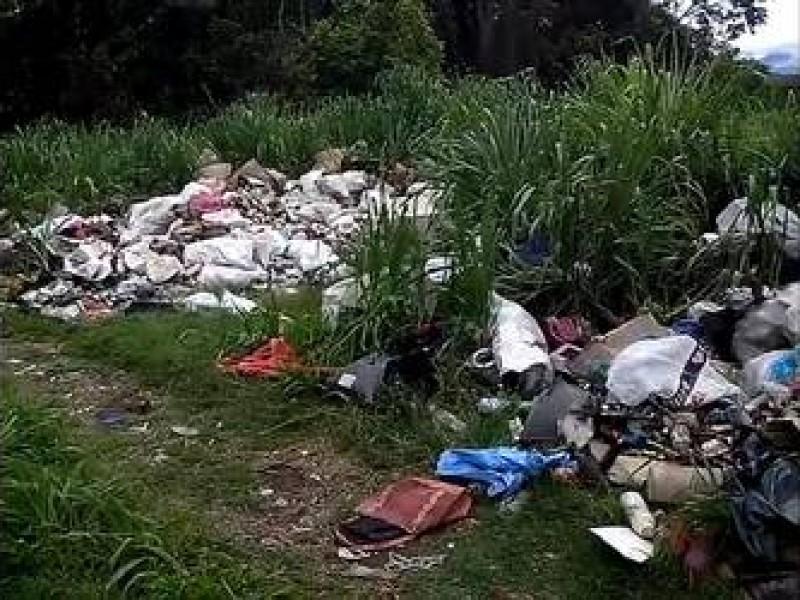 Denuncian basurero clandestino en Huehuetán