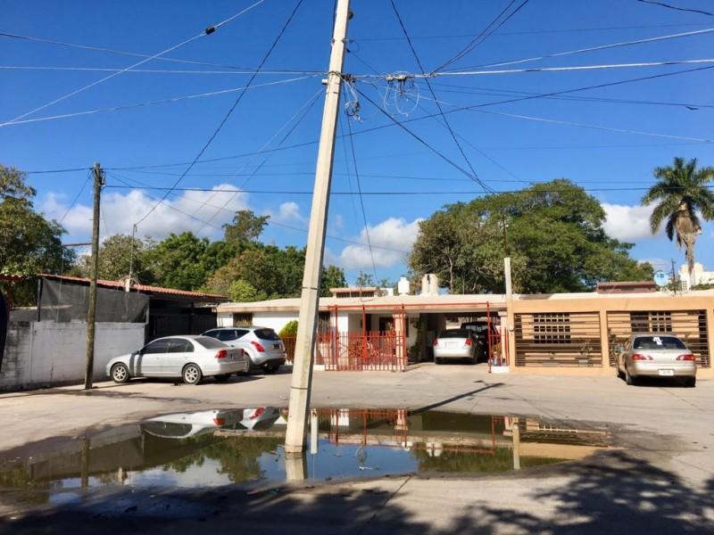 Denuncian brote de aguas negras en la 12 de octubre